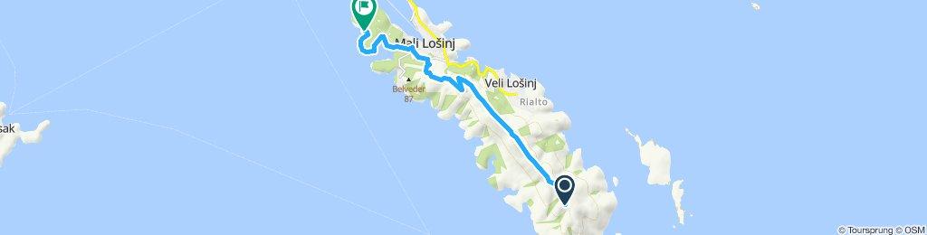 Einfache Fahrt in Mali Lošinj