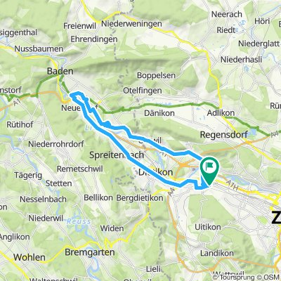 Velo-Mittwoch Route