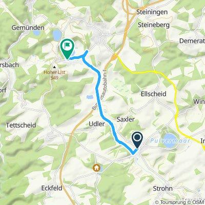 Moderate Route in Schalkenmehren