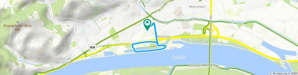 Route im Schneckentempo in Krems an der Donau