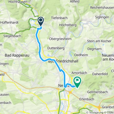 Moderate route in Neckarsulm