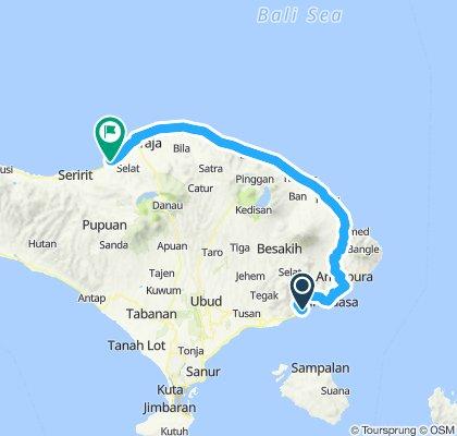 Bali, Indonesia, 3 Etappen, 01, Padangbai - Lovina, 125 km