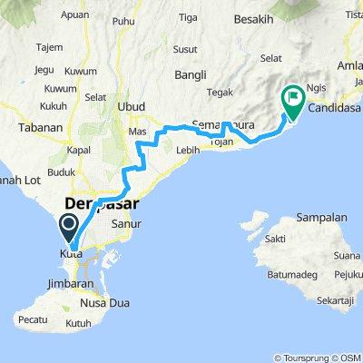 Bali, Indonesia, 3 Etappen, 03, Kuta - Padangbai, 65 km
