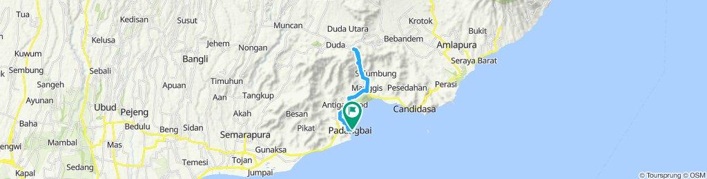 Bali, Indonesia, Padangbai - Putung, PP, 28 km