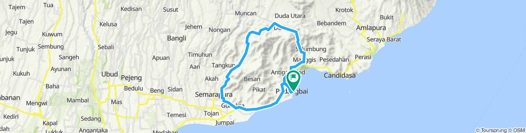 Bali, Indonesia, Trainingsrunde, Padangbai, 50 km