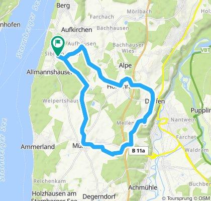 Gerade Fahrt in Berg 21082019