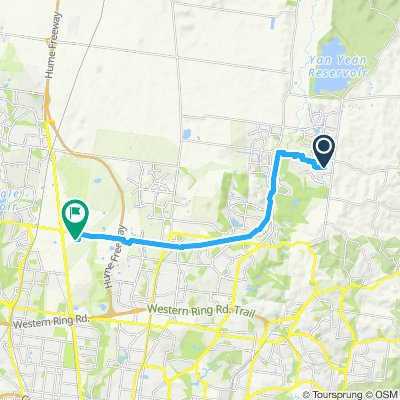 Snail-like route in Campbellfield
