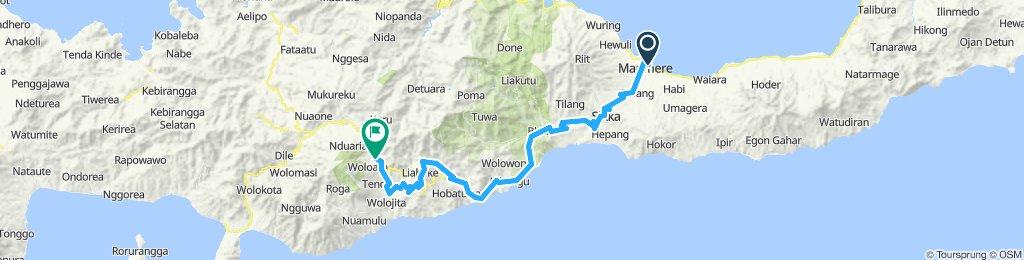 Flores-Sumbawa-Lombok, Indonesia, 12 Etappen, 01, Maumere - Moni, 93 km