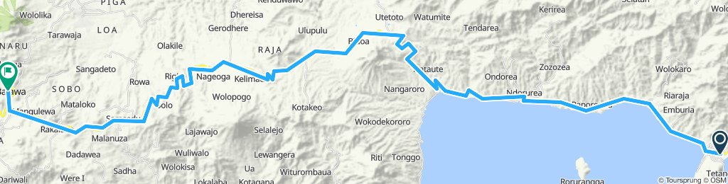 Flores-Sumbawa-Lombok-Bali, Indonesia, 12 Etappen, 03, Ende - Bajawa, 129 km