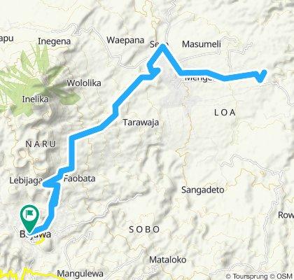 Flores, Indonesia, Bajawa - Soa, PP, 52 km