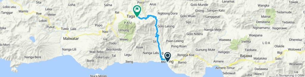 Flores-Sumbawa-Lombok-Bali, Indonesia, 12 Etappen, 05, Mborong - Ruteng, 57 km