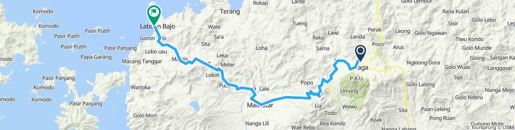 Flores-Sumbawa-Lombok-Bali, Indonesia, 12 Etappen,06, Ruteng - Labuan Bajo, 135 km