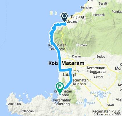 Flores-Sumbawa-Lombok-Bali, Indonesia, 12 Etappen, 11, Bangsal - Lembar, 63 km