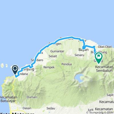Lombok, Indonesia, 4 Etappen, große Runde, 02, Bangsal - Sembalun Lawang, 78 km