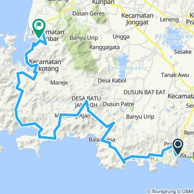 Lombok, Indonesia, 4 Etappen, große Runde, 04, Kuta Lombok - Lembar, 76 km
