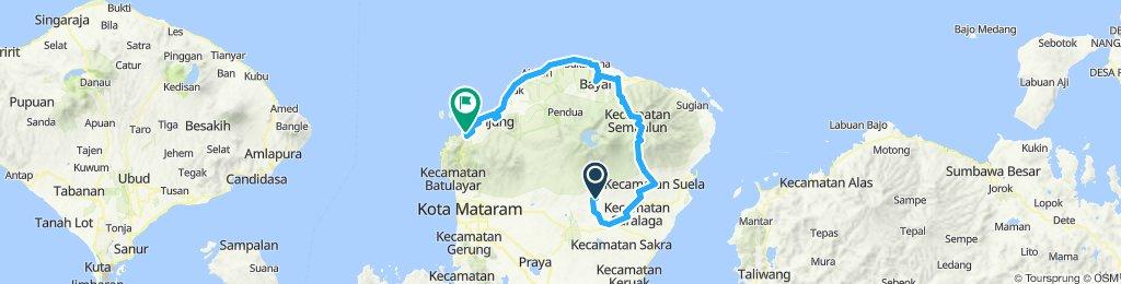 Lombok, Indonesia, 3 Etappen, kleine Runde, 02, Tetebatu - Bangsal, 138 km