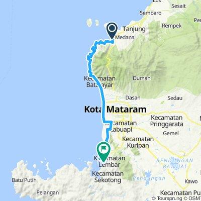 Lombok, Indonesia, 3 Etappen, 03, kleine Runde, Bangsal - Lembar, 62 km