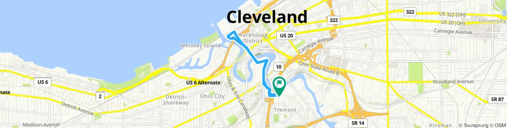 Slow ride in Cleveland