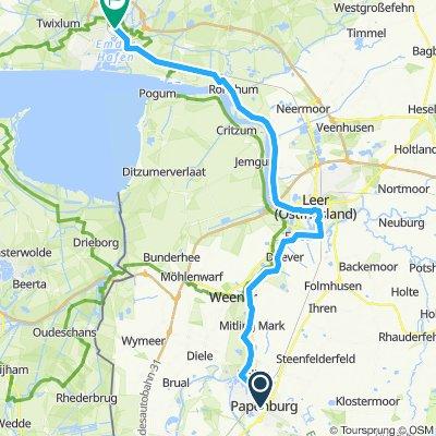 Papenburg-Leer-Emden 51km schönste Variante