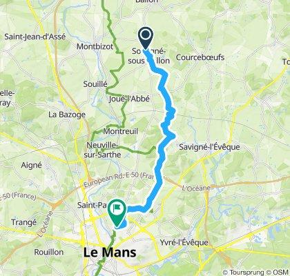 Souligné - Coulaine Est petite route