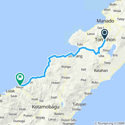 Sulawesi, Indonesia, 02, Tomohon - Inobontu, 150 km