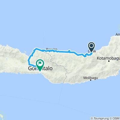 Sulawesi, Indonesia, 04, mit Auto, Lolak - Gorontalo, 250 km