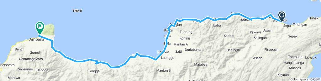 Sulawesi, Indonesia, 05, Pagimana - Ampana, 160 km