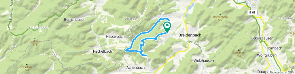 Gerade Fahrt in Breidenbach