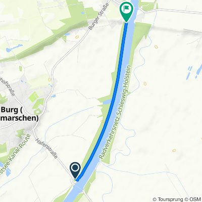 bike tour am Nord-Ostsee-Kanal