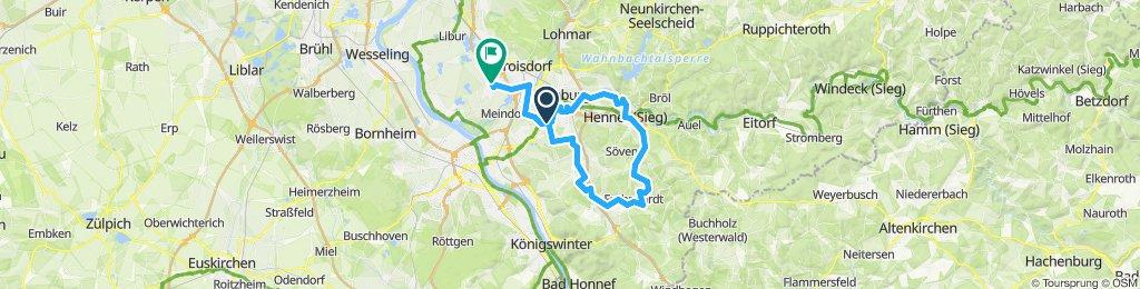 Gerade Fahrt in Troisdorf