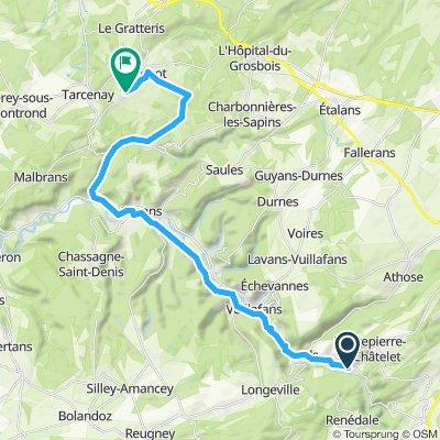 Mouthier-Haute-Pierre to Foucherans