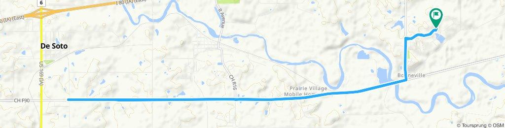 Napa Valley to past Van Meter