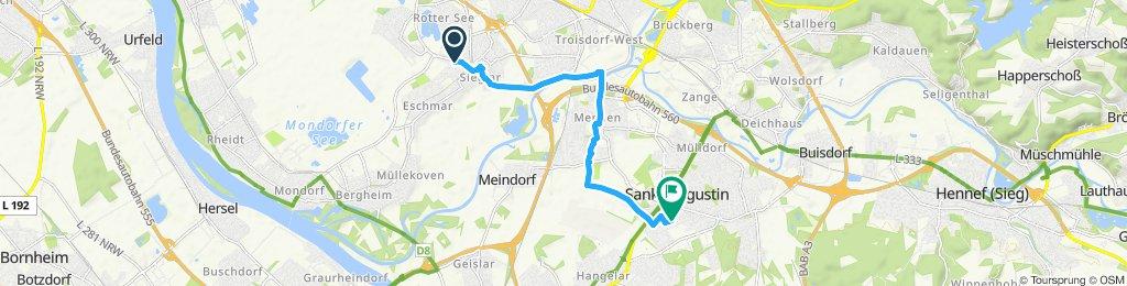 Route im Schneckentempo in Sankt Augustin