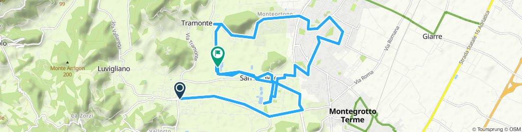 Giro a velocità lenta in Torreglia