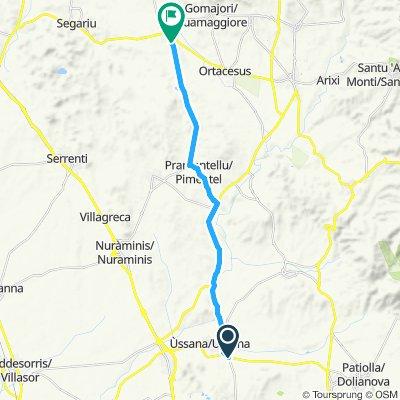 Steady ride in Guasila