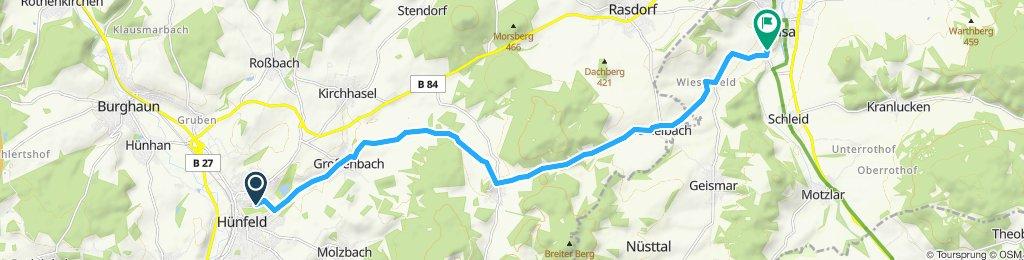 Entspannende Route in Geisa