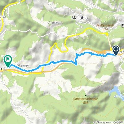 Moderate route in Berriz