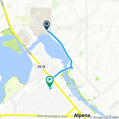 Relaxed route in Alpena
