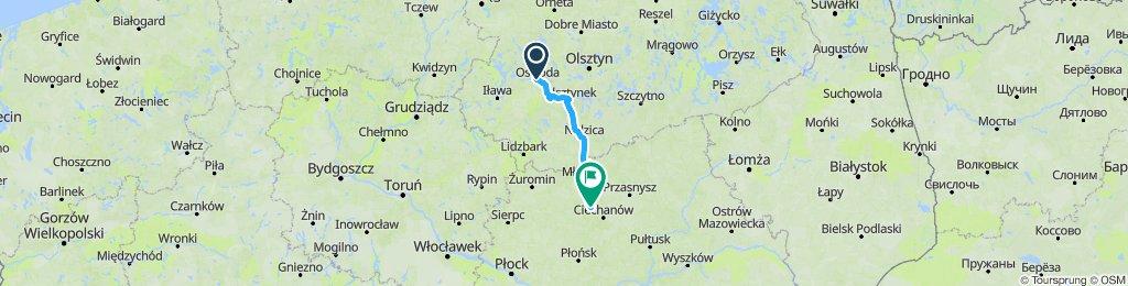 Ostróda - Czeruchy serwisówkami S7 plus objazd  Mławy przez Wieczfnię i Windyki