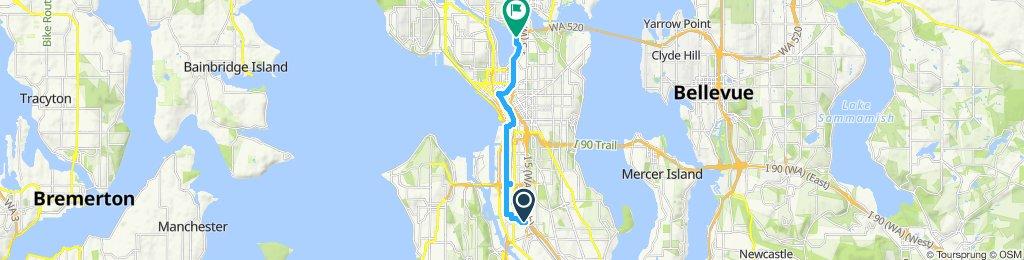 Restful route in Seattle