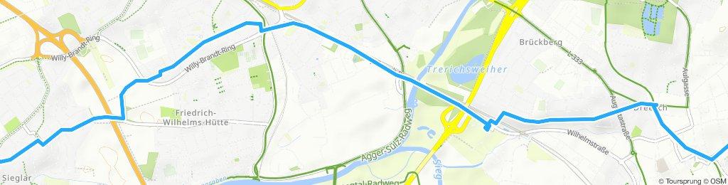 Gemütliche Route in Siegburg