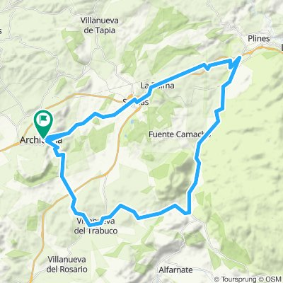 Ruta rápida en Archidona para carretera
