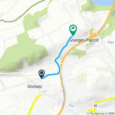 Crisp ride in Givisiez