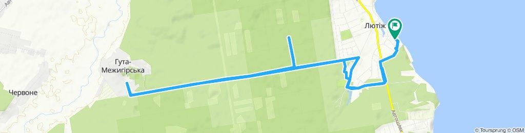 Moderate route in Lyutizh