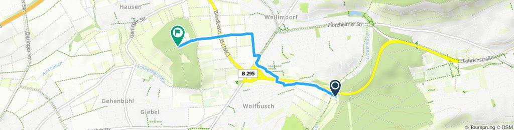 Snail-like route in Stuttgart