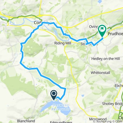 DRSC to Home (via Corbridge and and the Hadrian's Cycleway