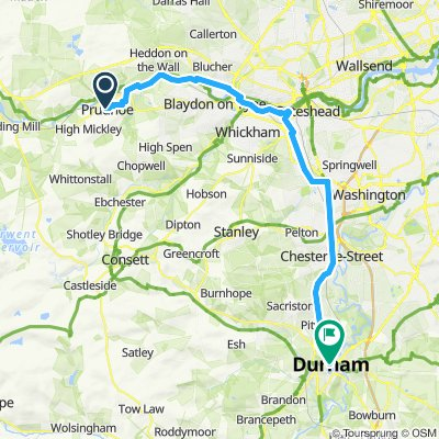Prudhoe to Durham 26mi 700ft