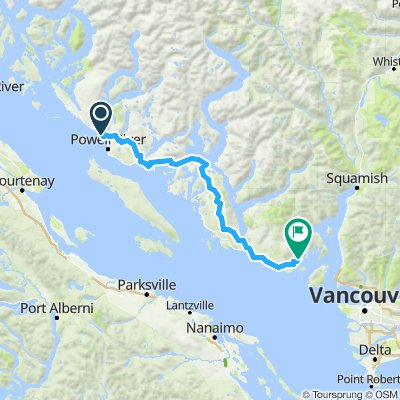 powell river to langdale