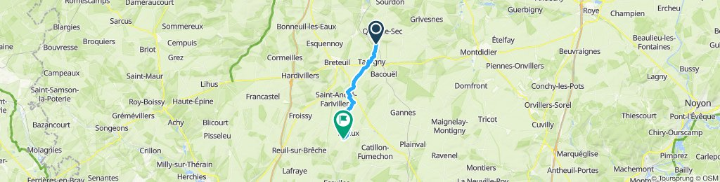 Easy ride in Quiry-le-Sec
