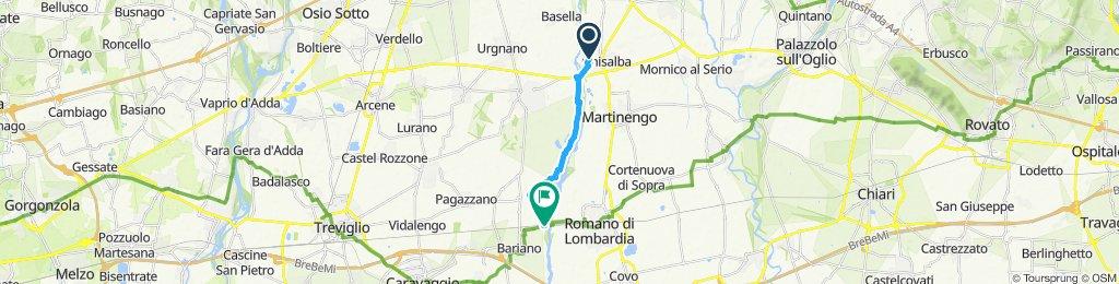 Giro a velocità costante in Bergamo
